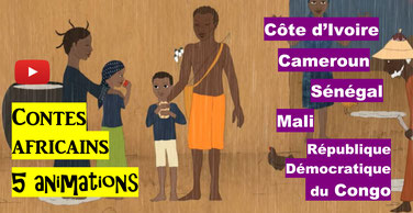 CONTES AFRICAINS: 5 animations (TV5)
