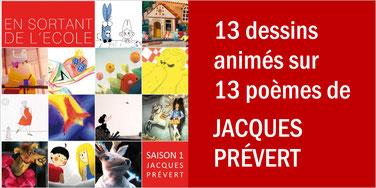 13 poèmes de JACQUES PRÉVERT en animation