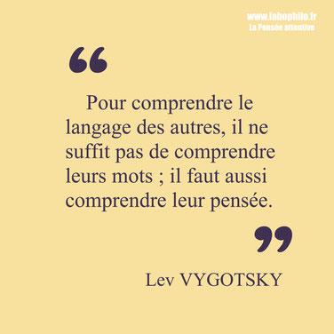 Lev Vygotsky citation langage pensée