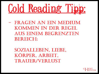 #ColdReading #Medium #Spiritismus #paranormal