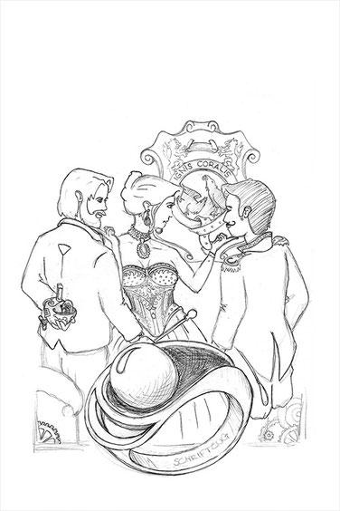 Cover Ammonitenherz Skizze