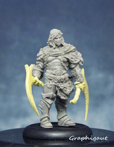 butcher 32mm, sculpture, graphigaut, figurines, terrible kids stuff
