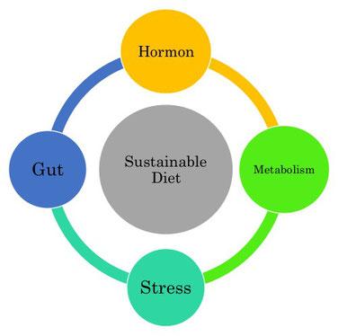 内分泌、代謝、ストレス、腸内環境を配慮した持続可能なダイエット Sustainable Diet