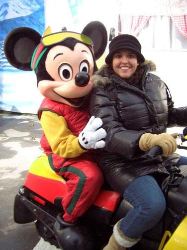 Mein erstes Foto mit Mickey (beim 3. mal in Disney)