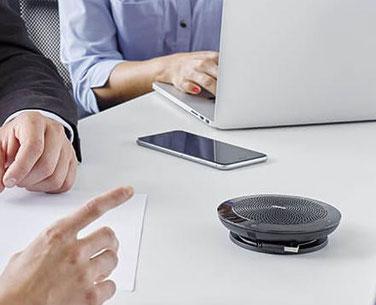 * Jabra microfoon voor online vergaderen