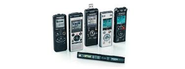 Line upp Olympus recorders