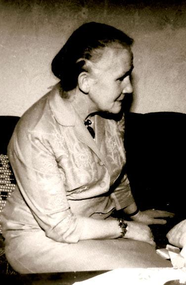 Historisches Foto, Erna Heinen-Steinhoff am 24.12.1960