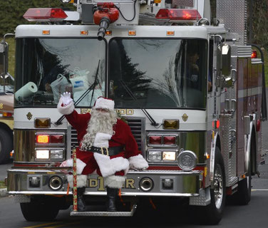 Santa will visit Fanwood on December 14th!