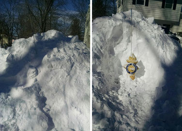 A Fanwood hydrant before and after snow removal