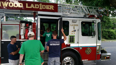 Checking out Ladder 1... wow, that's a big step!