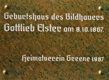 Gedenktafel im Flecken Greene zum 120. Jahrestag 1987