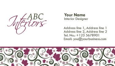 визитка дизайнера, дизайнерская визитка