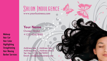 визитные карточки салона красоты, парикмахера, визажист, стилист
