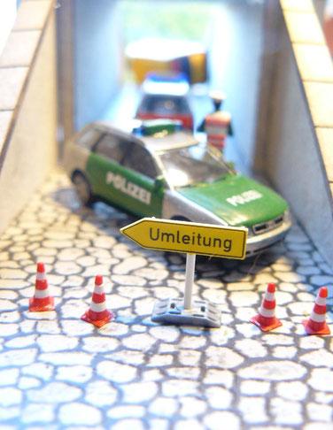 Audi A4 Avant der Polizei im Einsatz