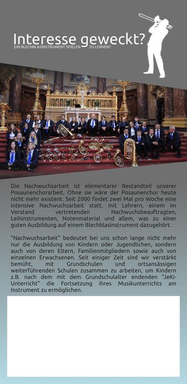 Posaunenchor Brackel Flyer Rückseite