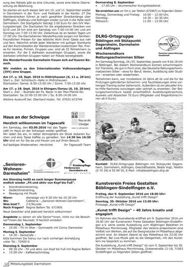 Mitteilungsblatt Darmsheim
