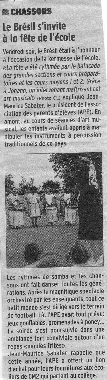 Article Charente Libre du 3 juillet 2014