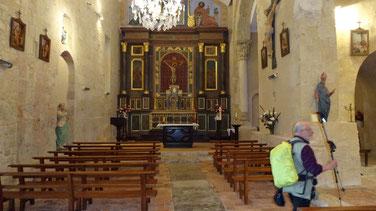 Jacques dans l'église de Larreule