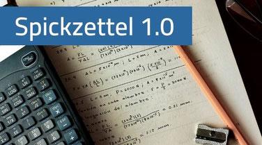 Kostenlose Spickzettel 1.0 zum einfachen Mathe lernen.