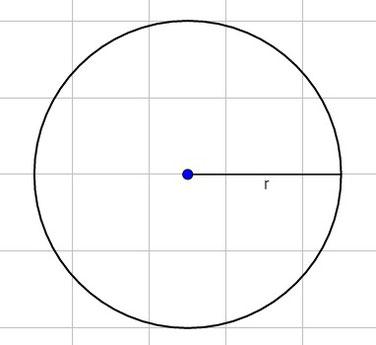 Ein Kreis mit eingezeichnetem Radius