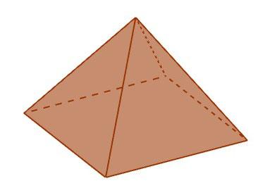 Eine Pyramide in 3D gezeichnet