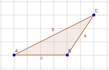 Beispiel für eine stumpfwinkliges Dreieck