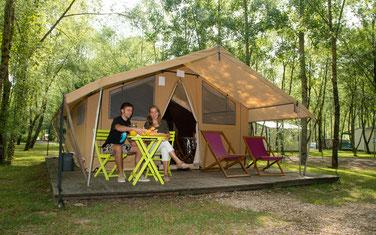 Camping Sites & Paysages  Les Saules à Cheverny - Loire Valley - Les cabatentes pour un retour aux sources