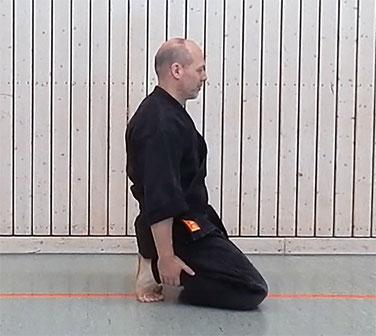 Vorübung Ushiro ukemi 1