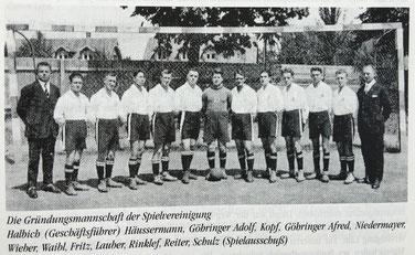 Die Gründungsmannschaft der Spvgg Lahr 1926