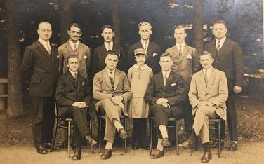 Die Gründungsmitglieder der Spvgg Lahr im Jahr 1926