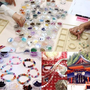 屋久杉ブレス作り体験ミニ祭壇ワーク・金櫻神社参拝