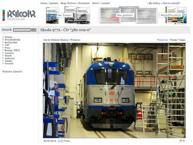 More than 350 photos at Railcolor.net contributed.  Sep 2014
