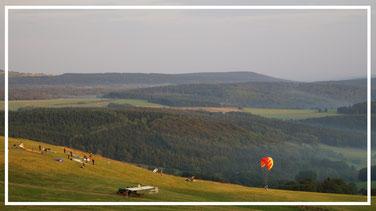 Die Wasserkuppe  (Rhön) - Berg der Flieger