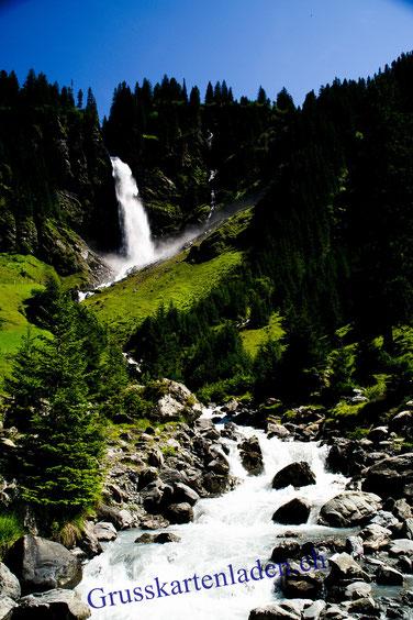 Wasserfall Glückwunschkarten