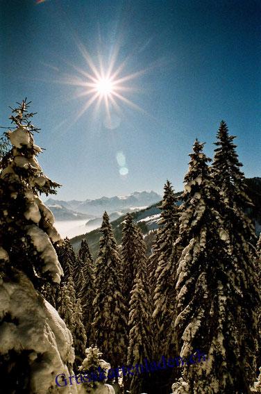 Winterlandschaft Sonne GRusskarten