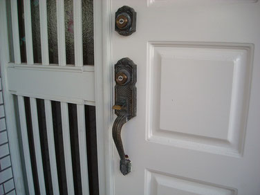 サムラッチ錠鍵修理1