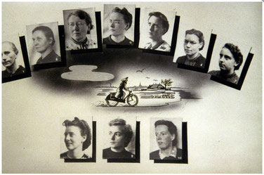 de tien uit de Blokhuispoort bevrijde vrouwen