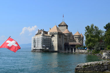 Switzerland Vacation Spots - Chillon Castle, Montreux