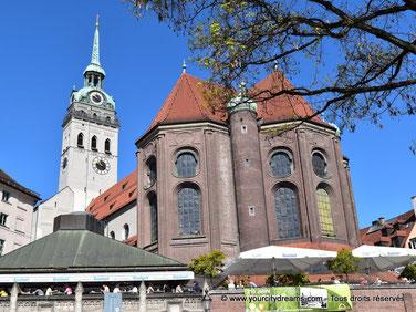 voyage - église baroque Saint Pierre de Munich