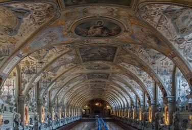 L'Antiquarium de la Résidence des rois de Bavière à Munich