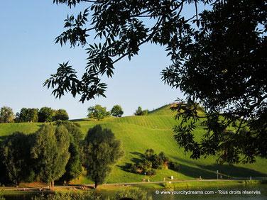 Tourisme à Munich - La colline du parc olympique