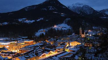 village bavarois en hiver