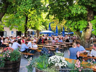 Biergarten à Munich - Biergarten am Bavaria Park
