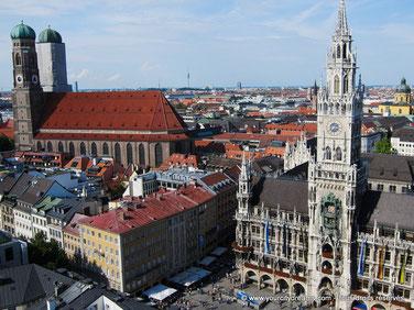 Le centre ville de Munich, capitale de la Bavière