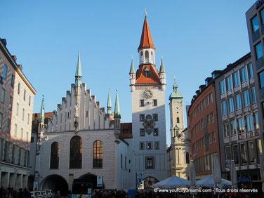 L´ancien hôtel de ville de Munich abrite le musée du jouet.