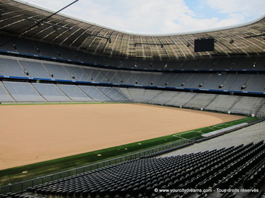 Le stade de foot du FC Bayern Allianz Arena à Munich est une merveille architecturale.