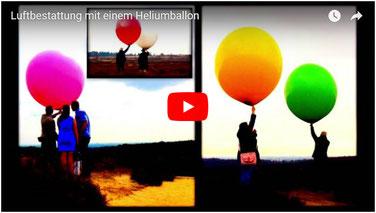 Bestattungsmesse Luftbestattung mit einem Heliumballon lexikon-bestattungen