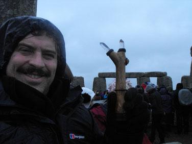 2013冬至ストーンヘンジの中