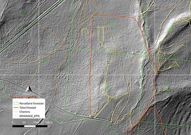 Interprétation Lidar de la forêt d'Ecouves. L'ancienne enclave de Bouzance réapparait ONF/SRA/N.Blanchard