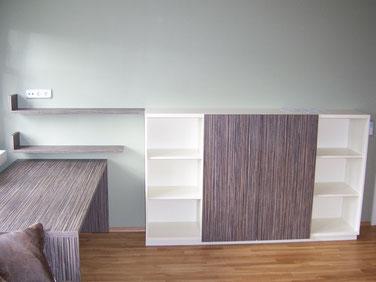 Tischlerei Feinschliff Bielefeld: Sidebord, Schreibtisch, Regale, Dekor Mali Wenge
